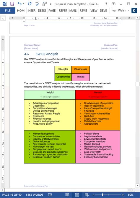 microsoft templates business plan business plan templates 40 page ms word 10 free excel
