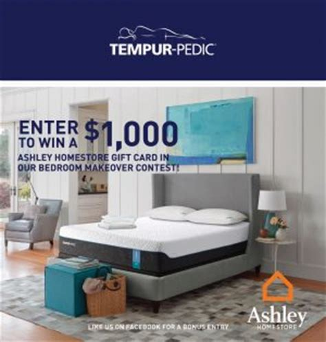 Ashley Furniture Gift Card - tempur pedic canada bedroom makeover win 1 000 as giveawayca com