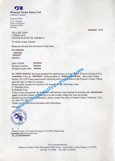 princess cruises employment princess cruises letter of employment 2014