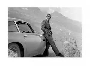 Connery Aston Martin Print Bond And His Aston Connery Is 007 Print Buy