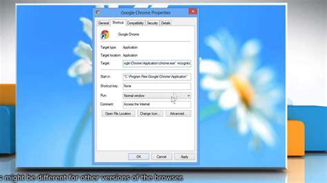chrome incognito shortcut create desktop shortcut to launch google chrome in