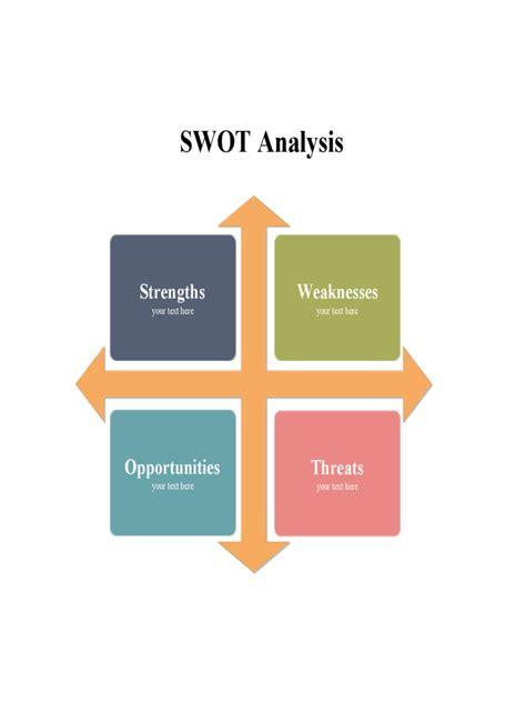 2018 swot analysis template fillable printable pdf
