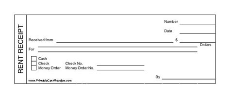 professional rent receipt template  word managers club