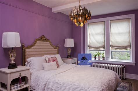 purple walls in bedroom purple walls eclectic bedroom lauren stern design