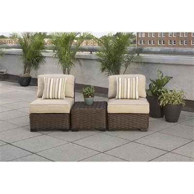 allen roth blaney wicker patio allen roth blaney 3 outdoor conversation set