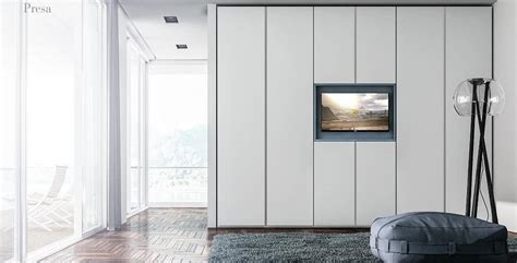 armadi con porta tv armadio in melaminico con porta tv idfdesign