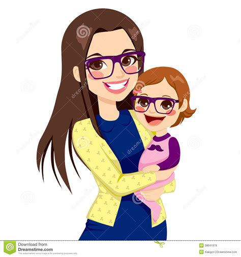 imagenes mujeres luchonas hipster mom and baby stock vector image of daughter