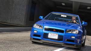 nissan slyline nissan skyline gt r bnr34 add on gta5 mods