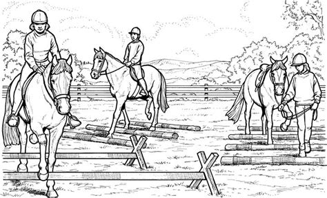 coloring pictures of horses jumping realistic coloring pages bestofcoloring