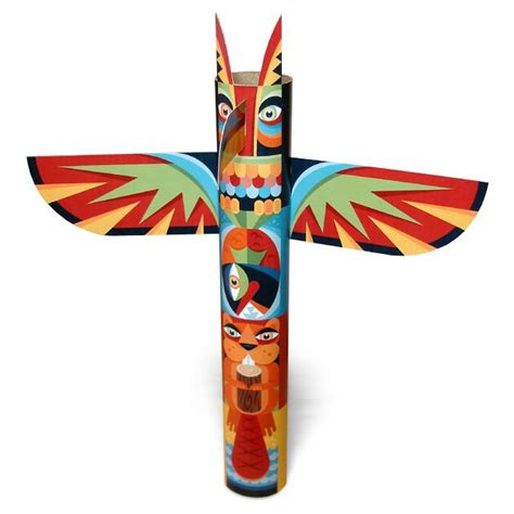 totem pole craft for the totem poles of the us pacific northwest are an