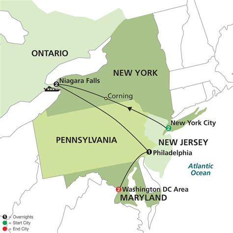waterfalls in usa map new york niagara falls washington d c deluxe travel
