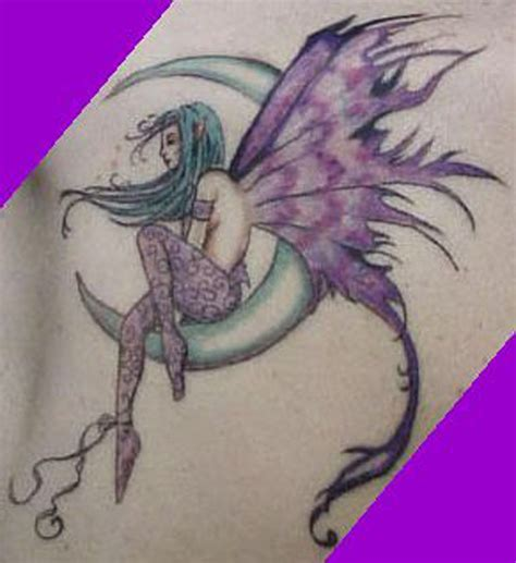 moon and stars fairy l fairy moon tattoo designs for women images