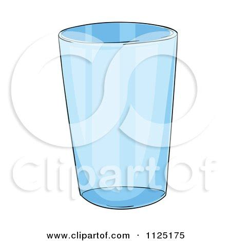 Cartoon Of A Glass Cup Royalty Free Vector Clipart By