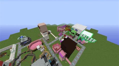 theme park popularmmos popularmmos supergirlygamer theme park minecraft project
