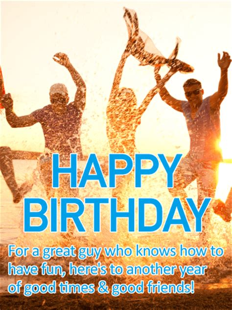 Birthday Cards For Guys Friends Blue Gift Box Happy Birthday Card Birthday Greeting