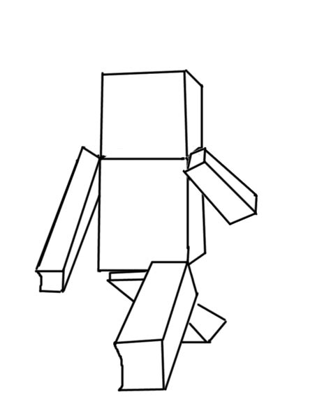 Minecraft Character Drawing Template minecraft drawing template www pixshark images