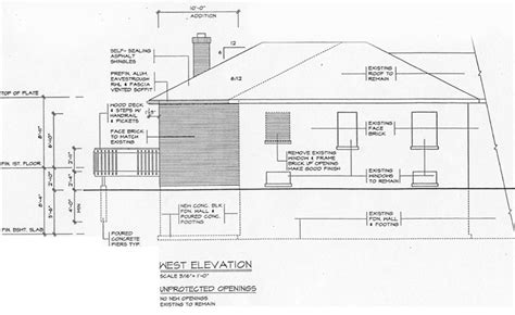 house elevation dimensions building guides town of whitby