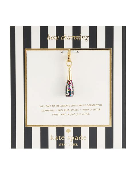 New Kate Spade New York 1021 kate spade new york how charming chagne bottle charm in purple lyst
