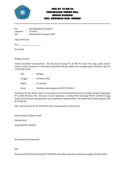 Contoh Surat Pemberitahuan Iuran Bulanan Rt