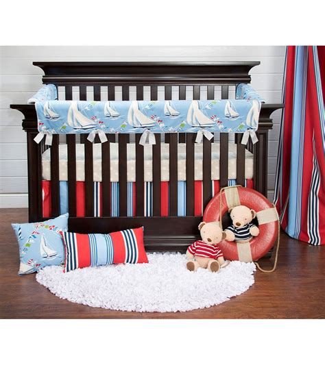 Baby Crib Protector by Glenna Jean Set Sail Crib Rail Protector