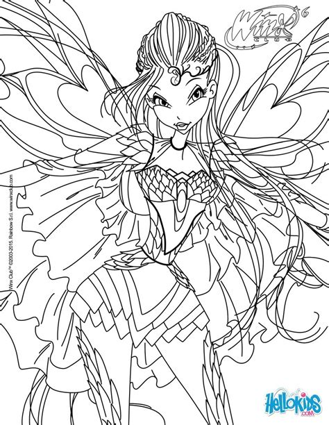 Winx Bloomix Coloring Pages bloom transformation bloomix coloring pages hellokids