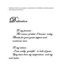 Dissertation Dedication Sample 3 Acknowledgement Finsh
