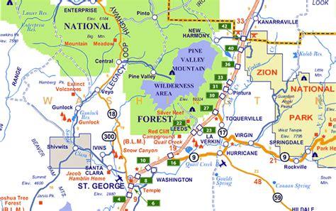 map of st george utah map of southern utah world map 07