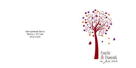 Hochzeitseinladung Lebensbaum by Hochzeitseinladungskarte Lebensbaum