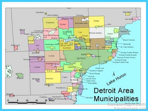 map of detroit michigan map of detroit michigan travelsmaps