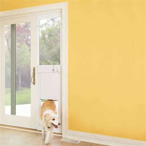 Patio Pet Door Hightech Power Pet Automatic Door In Sliding Glass