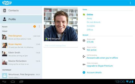 skype on android skype for android
