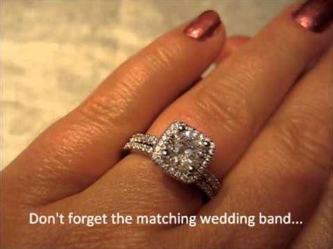 ki 117314 100 18k diamond halo engagement ring with