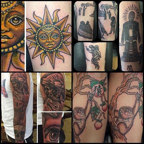 a collection of recent tattoos done by our artists