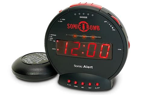 Alarm Clocks For To Sleepers by Alarm Clocks To Up Heavy Sleepers Alarms From Sonic Alert Licom Hammacher Schlemmer