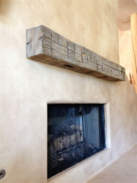 mantle reclaimed michigan hewn beam eclectic