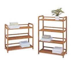 Bed Bath And Beyond Bathroom Shelves Buy Neu Home Lohas3 Tiered Bamboo Shelf From Bed Bath Beyond
