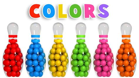 kids color colors for children to learn with 3d bowling game