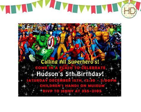 Superhero Invitation Superhero Party Marvel Superhero Superhero Bi Marvel Invitation Template Free