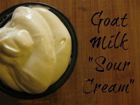 how to make goat milk sour cream ketchup cream and food processor
