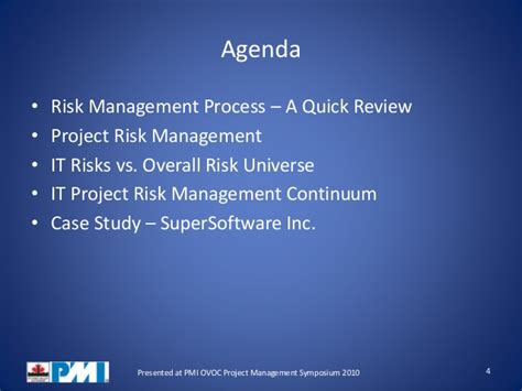 Ms In Enterprise Risk Management Vs Mba by Managing Risk And Opportunity In It Projects