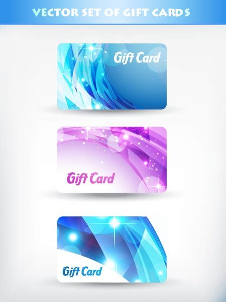Fancy Gift Card - fancy gift card template vector flow line card starlight free vector in encapsulated