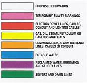 Utility Color Code Chart