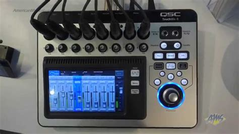 Mixer Digital Qsc qsc touchmix 8 compact digital mixer canada tech rent