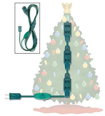 christmas tree extension cord with outlets from