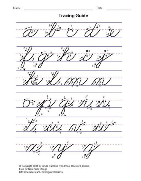 printable montessori cursive letters practice cursive writing the alphabet lower and upper case
