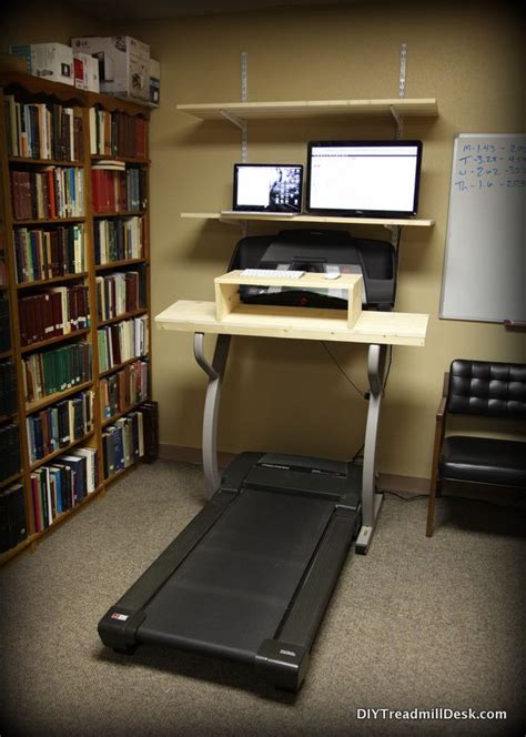 Treadmill Desk Diy How To Build A Diy Treadmill Desk Out Of Our Current Treadmill Diy Ideas Pinterest