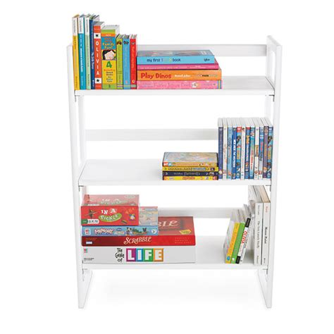 container store folding bookcase board game storage kids bookshelves the container store