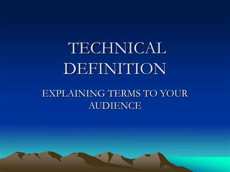 powerpoint tutorial definition ppt technical definition powerpoint presentation id 355562