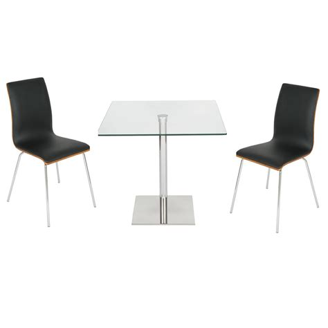 Dining Table Bench Two Chairs Levv 80cm Square Table Dining Set With 2 Padded Chairs