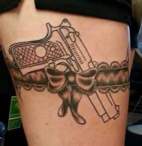 tattoo gun belt garter belt and gun tattoo i would want this but instead